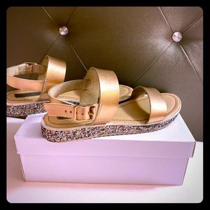 Girls Rose Gold Steve Madden JGia sandals